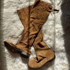 FREE PEOPLE - knee high boots/never worn/ W US 10.